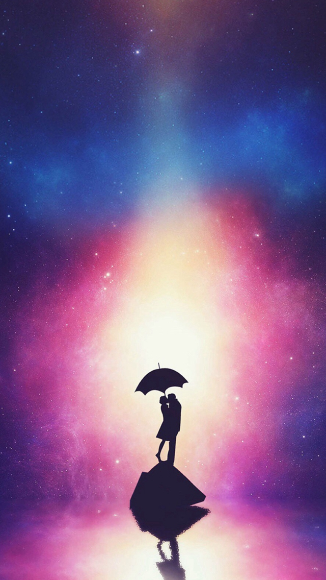 Fantasy-Dreamy-Anime-Lovers-Figure-Reflection-iPhone-s-wallpaper-wp425360