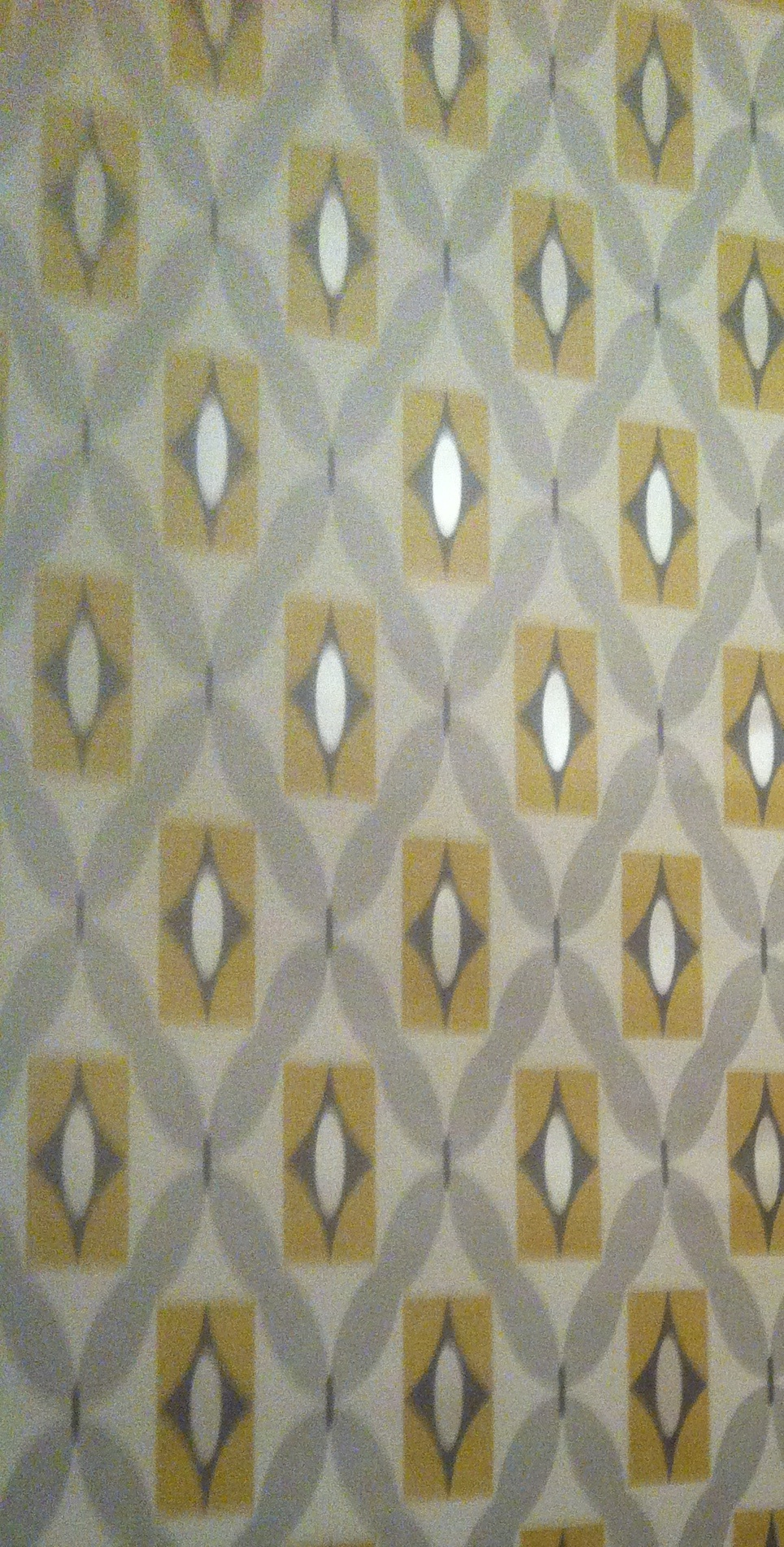 Feature-wall-grey-and-mustard-Geometric-print-from-bq-for-our-downstairs-loo-wallpaper-wp3005587