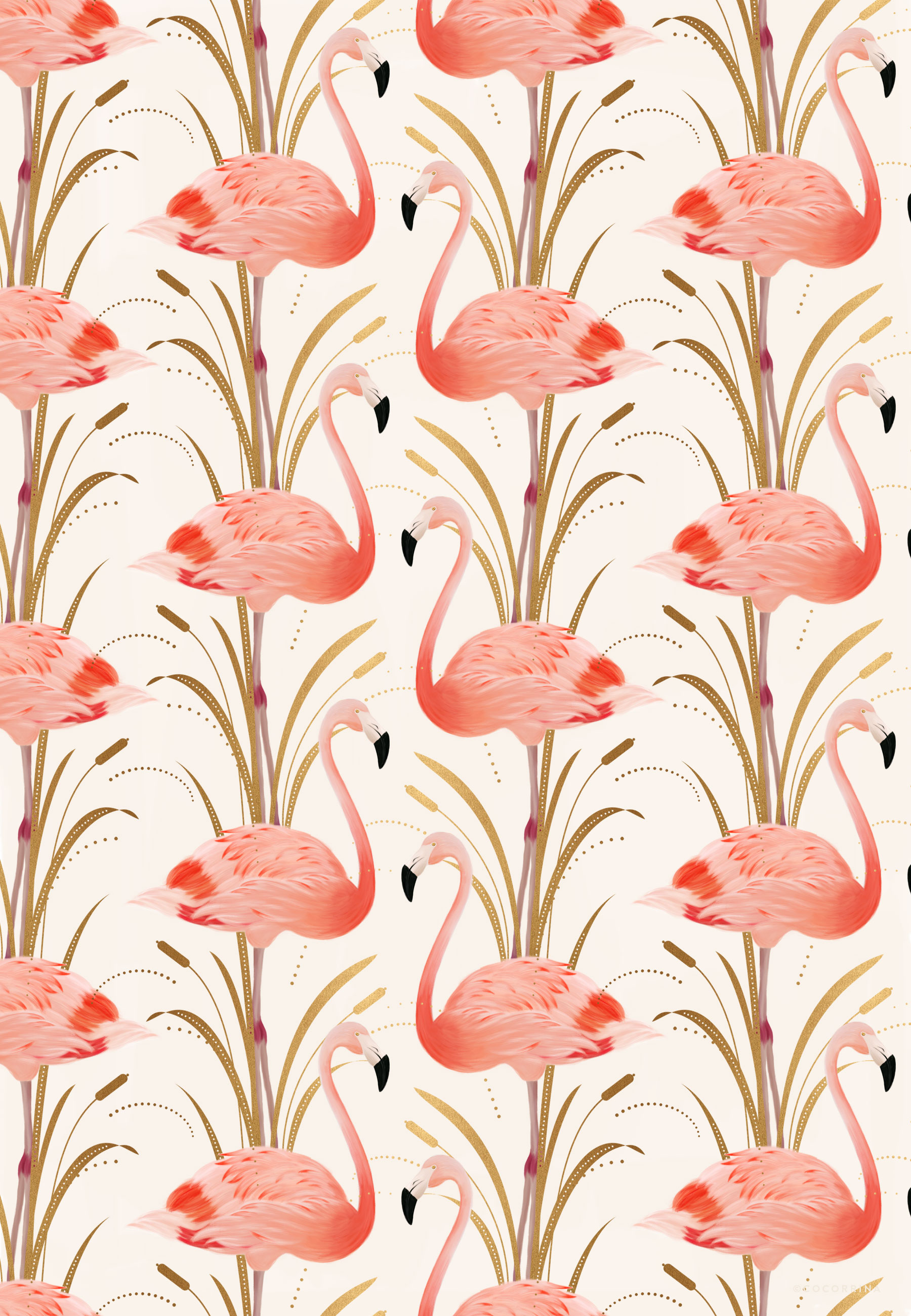 Flamingo-pattern-Illustration-by-Cocorrina-wallpaper-wp4406979