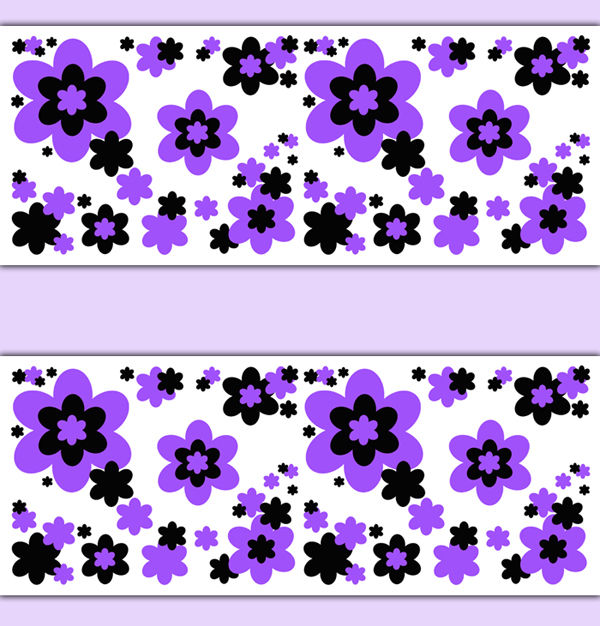 Floral-Border-Purple-Decals-Wall-Art-Teen-Girls-Room-Flower-Stickers-decampstudios-wallpaper-wp3005729