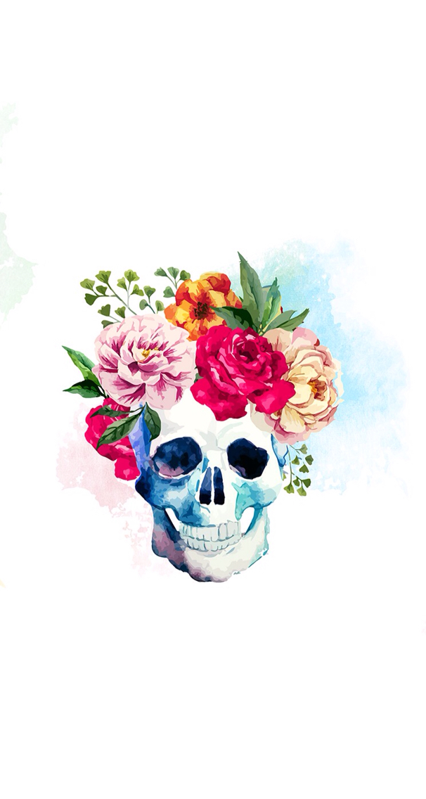 Flower-skull-wallpaper-wp425475
