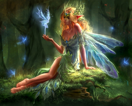 Forest-Elf-and-the-Little-Fairies-wallpaper-wp5805781