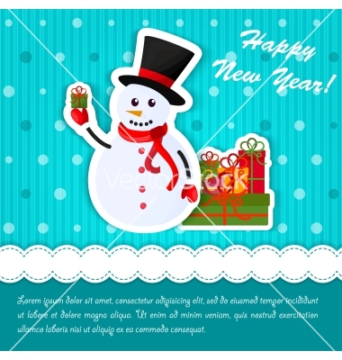 Free-Vector-Happy-snowman-with-holiday-banner-vector-by-Owllee-on-VectorStock®-wallpaper-wp4806619