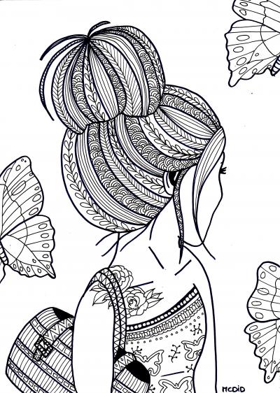 Free-coloring-page-for-adults-Girl-with-tattoo-Gratis-kleurplaat-voor-volwassenen-Meisje-met-tato-wallpaper-wp4606010-2