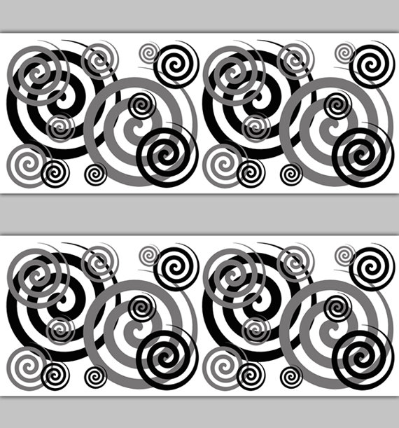 GRAY-SPIRAL-BORDER-Decal-Wall-Art-Black-Swirl-Stickers-Teen-Grey-Deco-Room-Decor-Girl-Boy-Childrens-wallpaper-wp3006303