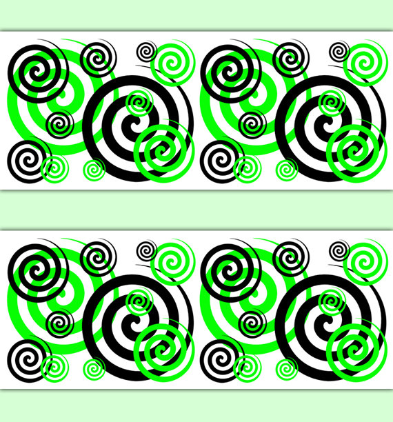 GREEN-BLACK-SPIRAL-Border-Wall-Art-Decals-Teen-Girl-Room-Decor-Childrens-Swirl-Bedroom-Bab-wallpaper-wp3006325