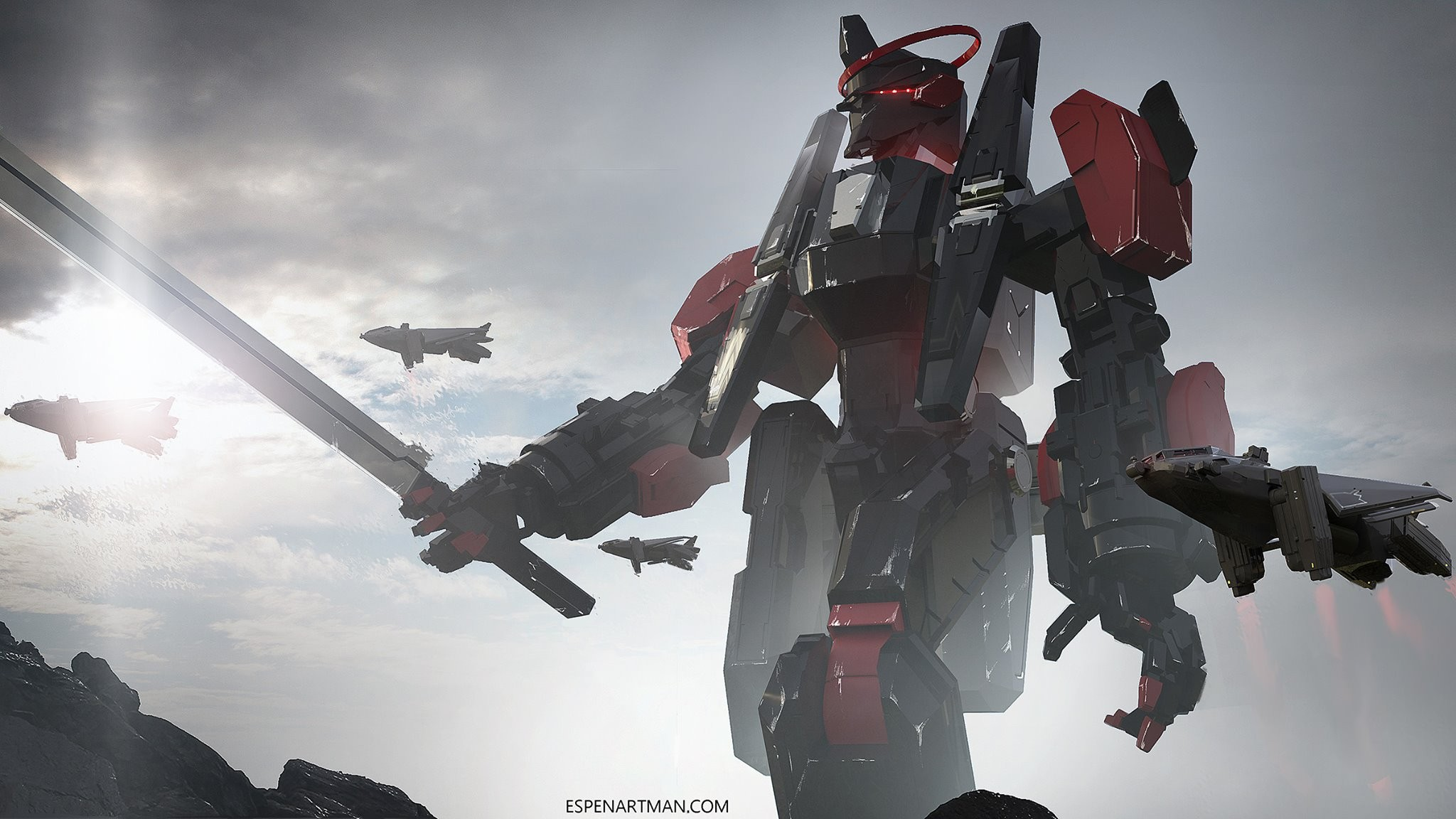General-x-robot-sword-mech-wallpaper-wp3406200