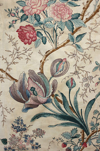 Glorious-antique-French-mid-th-century-Indienne-arborescent-design-printed-chintz-fabric-amazi-wallpaper-wp5405301