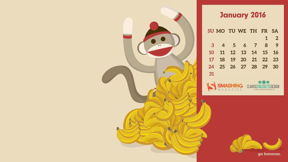 "Go-Bananas-""It's-the-year-of-the-monkey-and-I-wanted-to-kick-start-the-year-with-some-simple-wallpaper-wp4806794"