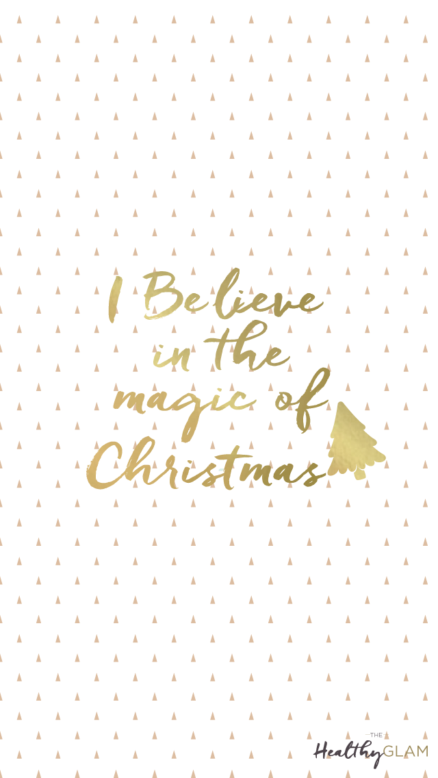 Gold-Christmas-tree-iphone-I-believe-in-the-magic-of-Christmas-wallpaper-wp4606273