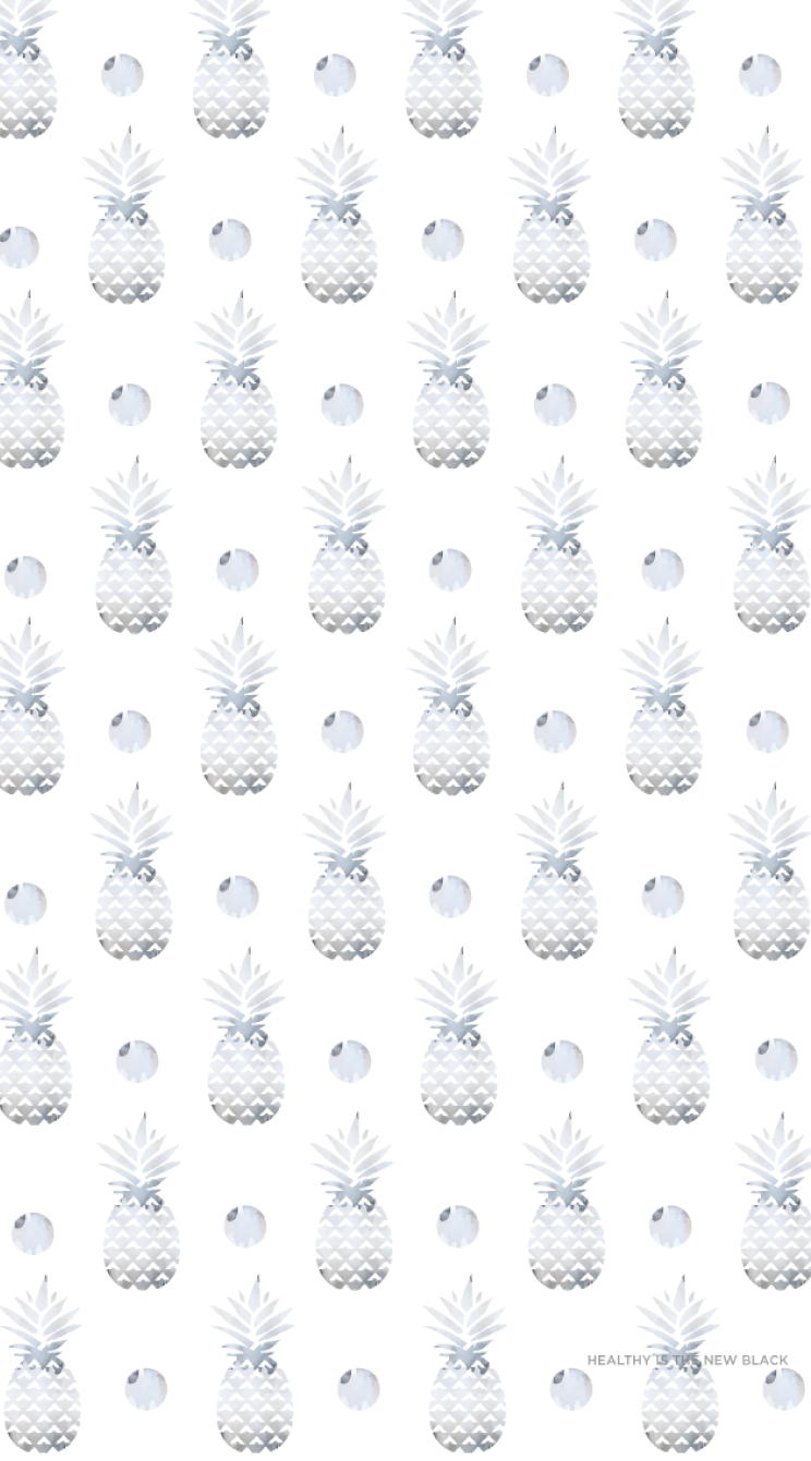 Gray-Watercolor-Pineapples-iphone-Healthy-lifestyle-Enjoy-wallpaper-wp4606423