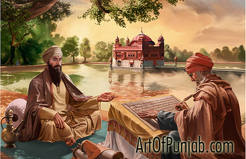 Guru-Arjan-Dev-Ji-Birth-of-the-Adi-Granth-wallpaper-wp5405458