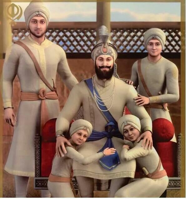 Guru-Gobind-Singh-and-His-four-sons-wallpaper-wp5008238