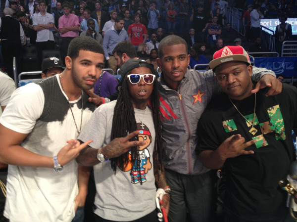 Guy-on-the-right-photobombing-this-picture-with-Chris-Paul-Lil-Wayne-and-Drake-we-love-his-shirt-wallpaper-wp3006361