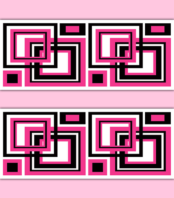 HOT-PINK-GEOMETRIC-Square-Border-Decal-Abstract-Wall-Art-Stickers-Teen-Girl-Room-Modern-Li-wallpaper-wp3006705