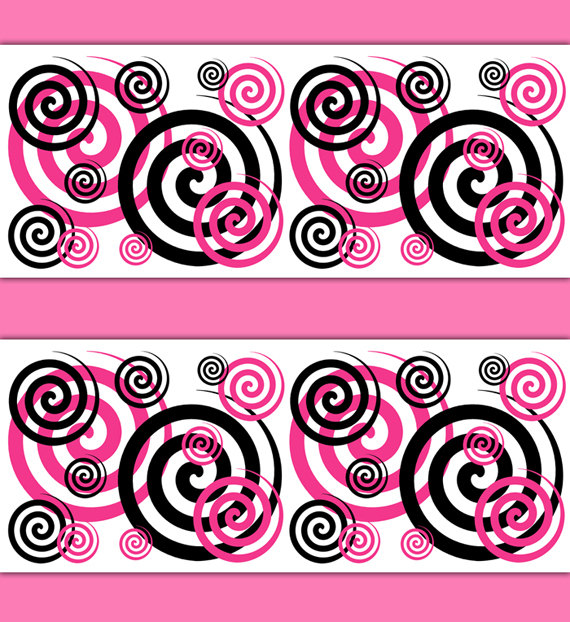 HOT-PINK-SWIRL-Border-Decal-Wall-Art-Teen-Girls-Stickers-Bedroom-Decor-Childrens-Modern-Ab-wallpaper-wp3006708