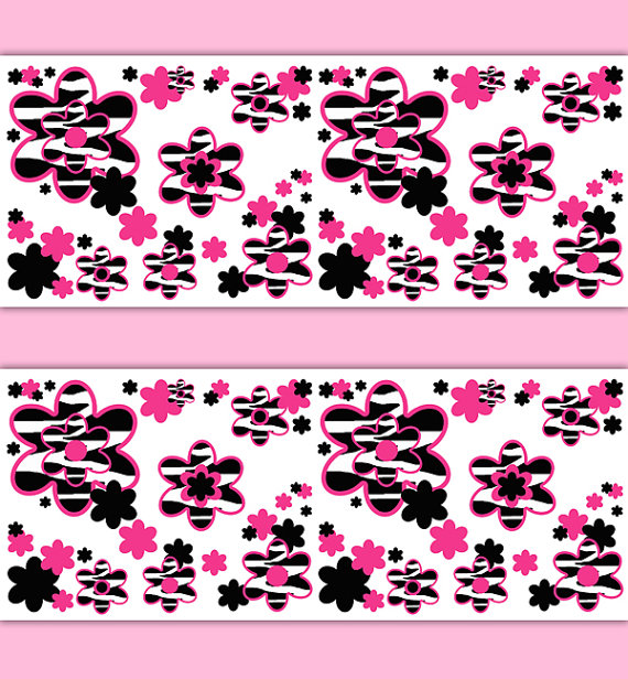 HOT-PINK-ZEBRA-Animal-Print-Border-Floral-Wall-Decal-Girl-Wall-Art-Stickers-Room-Decor-Bab-wallpaper-wp3006710