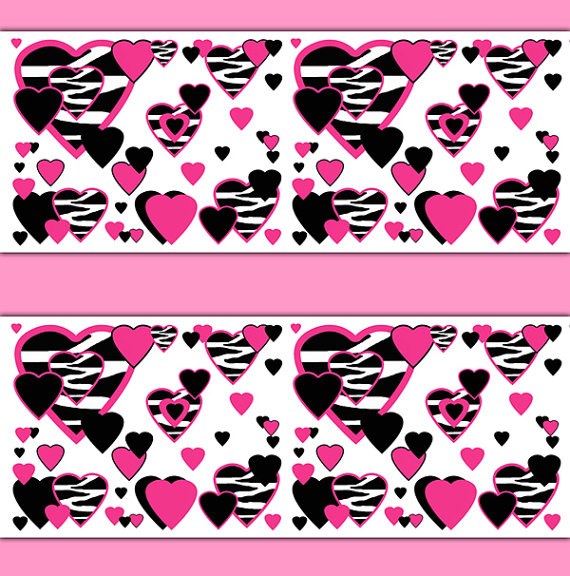 HOT-PINK-ZEBRA-Heart-Border-Decals-Safari-Animal-Print-Teen-Girls-Room-Baby-Nursery-Childr-wallpaper-wp3006711