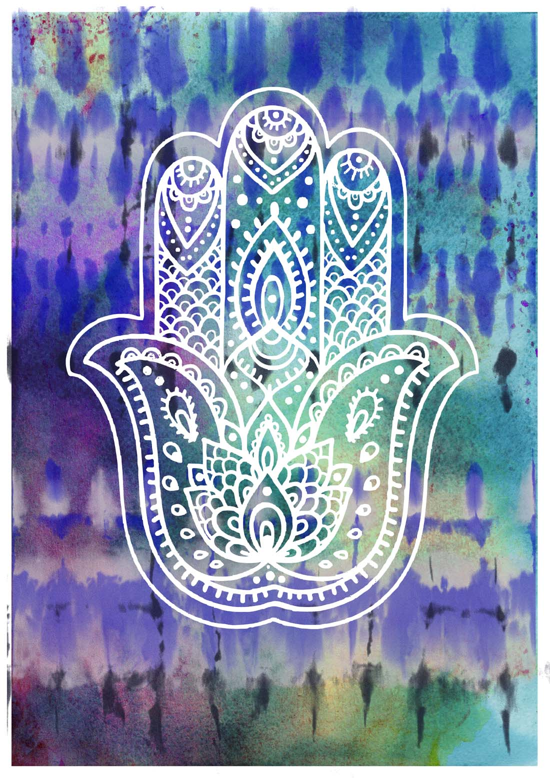 Hamsa-Hand-hippie-style-Wall-art-dorm-decor-poster-print-Karma-religious…-wallpaper-wp5405512