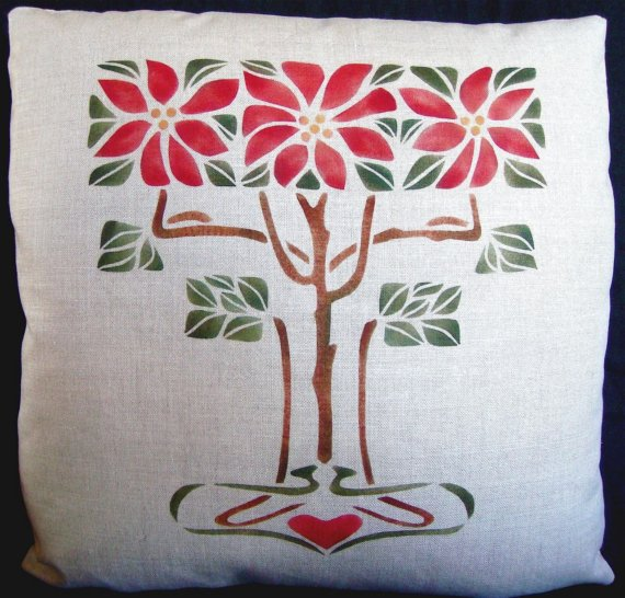 Hand-Stenciled-Poinsettias-Pillow-Arts-and-Crafts-Craftsman-wallpaper-wp5806252