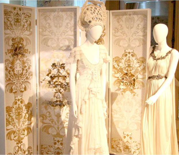 Hand-cut-screen-printed-encrusted-with-Swarovski-crystals-and-gold-studs-The-screen-was-wallpaper-wp3006425