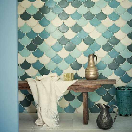 Handmade-Moorish-designs-known-as-Zelliges-bring-unusual-pattern-to-a-bathroom-and-are-especially-wallpaper-wp3006433