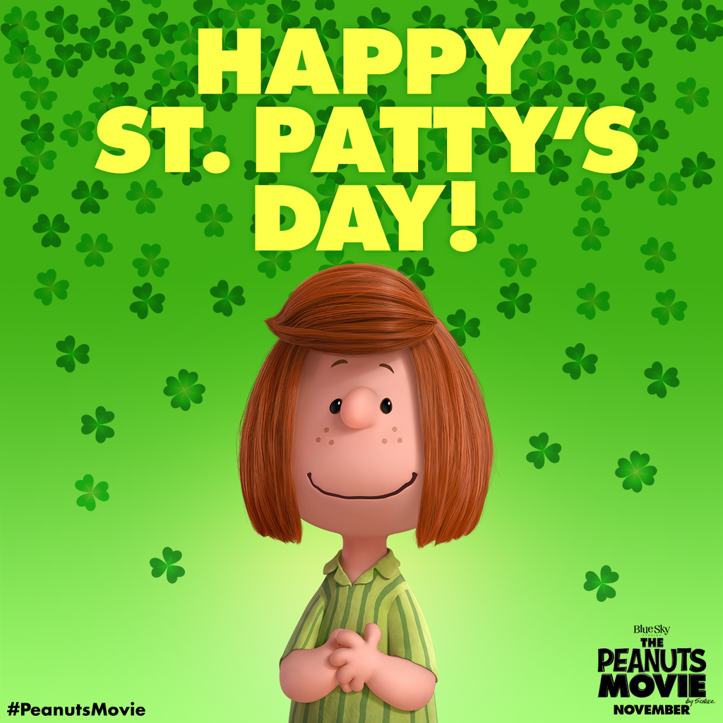 Happy-St-Patty's-Day-from-the-Queen-of-Green-Peppermint-Patty-PeanutsMovie-wallpaper-wp425982