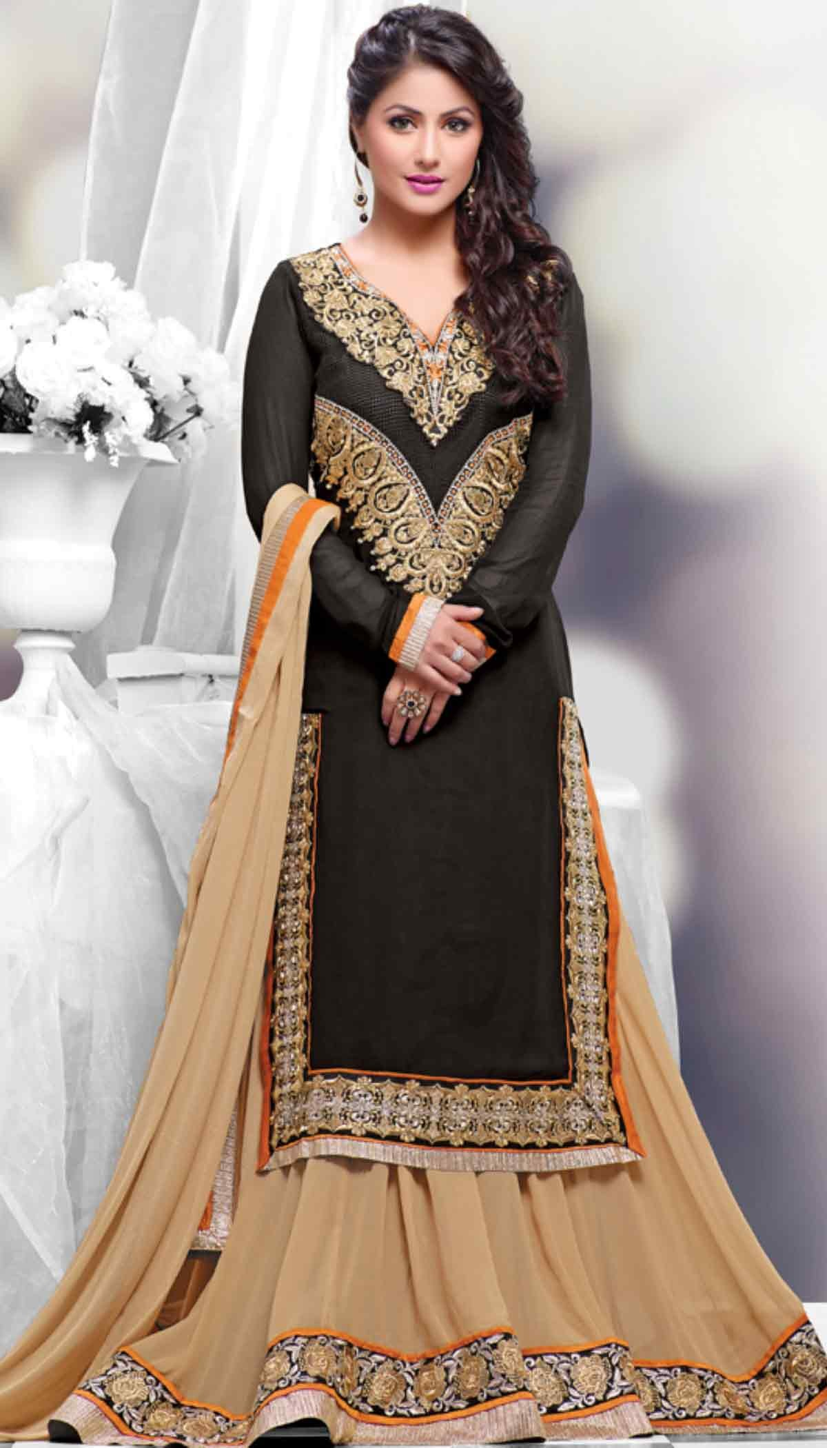 Heena-Khan-Black-Poly-Georgette-Resham-Embroidered-Long-Straight-Suit-With-Chiffon-Dupatta-wallpaper-wp5207390