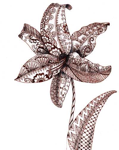 Henna-Lily-Stretched-Canvas-wallpaper-wp4807202