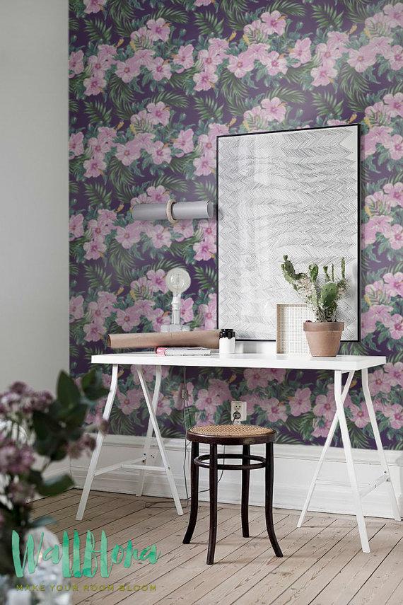 Hibiscus-Removable-Hawaiian-by-WallfloraShop-wallpaper-wp421075