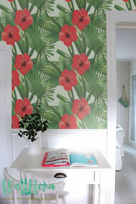 Hibiscus-Removable-Hawaiian-by-WallfloraShop-wallpaper-wp42313-1
