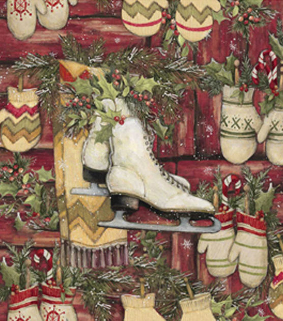Holiday-Inspirations-Christmas-Susan-Winget-Skates-And-Mittens-Fabric-wallpaper-wp426194