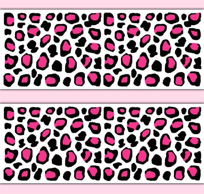 Hot-Pink-Leoaprd-Print-Border-Decal-Wall-Art-Teen-Girl-Animal-Stickers…-wallpaper-wp3006706