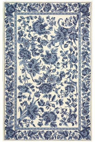 Image-detail-for-Dollhouse-miniature-French-Country-Shabby-Blue-floral-toile-area-rug-wallpaper-wp4607104-1