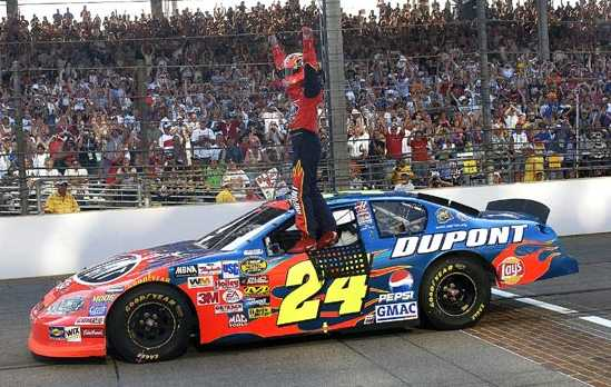 Jeff-Gordon-after-winning-the-Brickyard-a-th-time-wallpaper-wp3007440