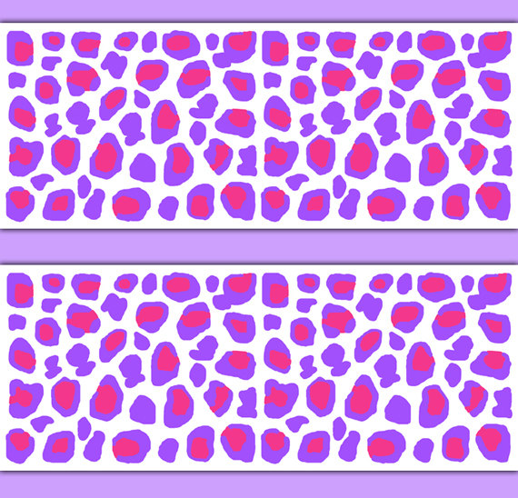 LEOPARD-ANIMAL-PRINT-Border-Decals-Hot-Pink-Purple-Girls-Teen-Bedroom-Jungle-Nursery-Child-wallpaper-wp3007946