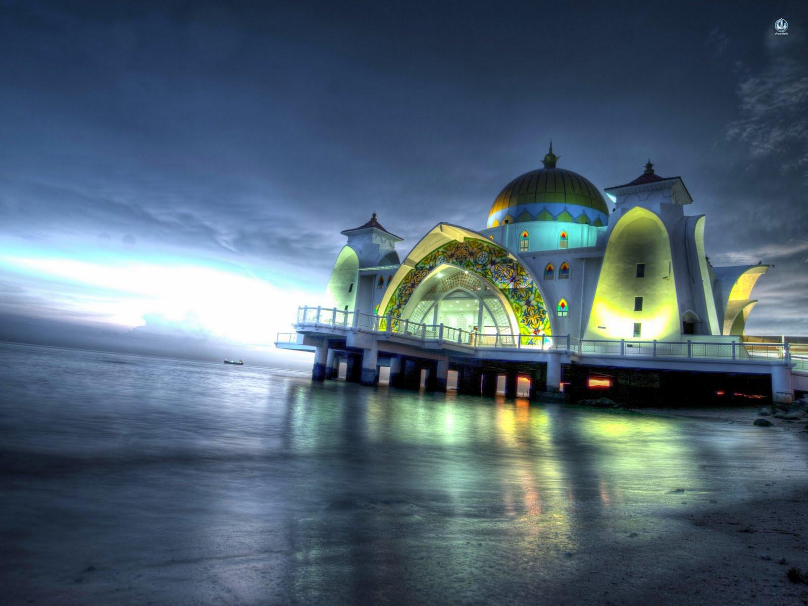 Masjid-Selat-Melaka-pada-waktu-malam-Straits-of-Malacca-mosque-Malaysia-wallpaper-wp6004788