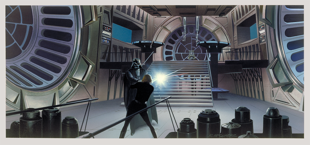 McQuarrie-Vader-and-Luke-dueling-on-the-Death-Star-wallpaper-wp427531