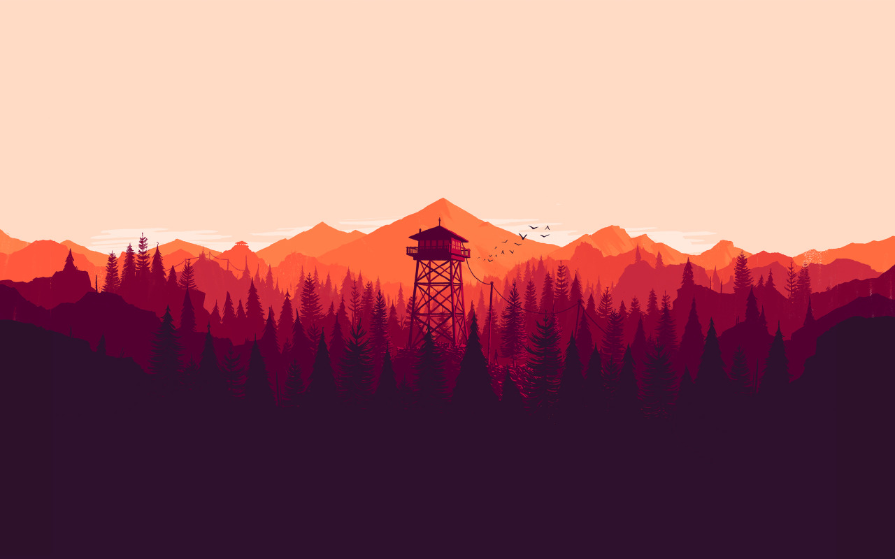 Official-of-the-Firewatch-key-art-by-Olly-Moss-Enjoy-them-in-these-fine-formats-d-wallpaper-wp3409330
