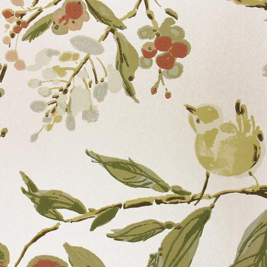 Penglai-A-delightful-featuring-an-informal-design-of-birds-nestling-amongst-blos-wallpaper-wp428308