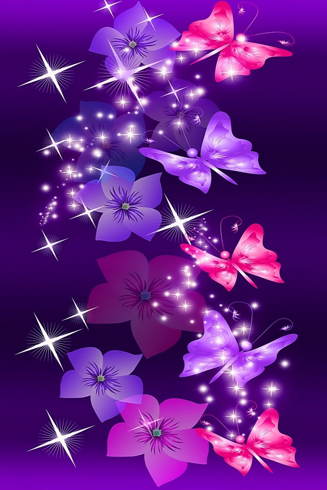 Pink-and-Purple-butterflies-wallpaper-wp428392
