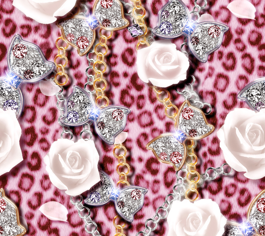 Pink-with-jeweled-ribbons-roses-chains-and-a-pink-leopard-background-wallpaper-wp52010324