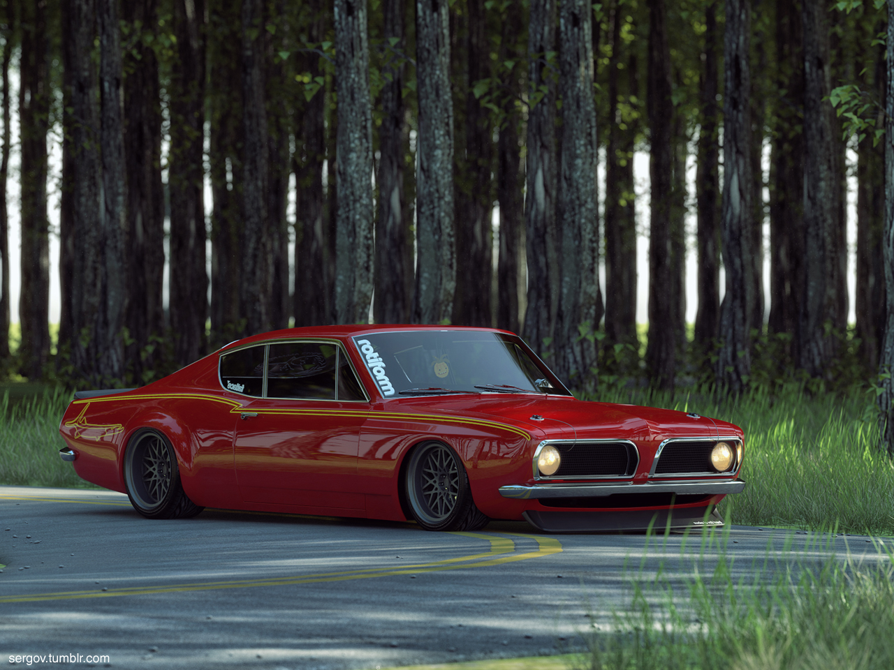 Plymouth-Barracuda-Stanced-CGI-by-sergoc-on-deviantART-wallpaper-wp3009605