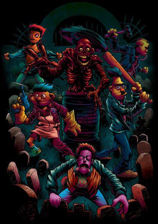 Return-of-the-living-dead-II-fan-art-muppetts-wallpaper-wp50011651
