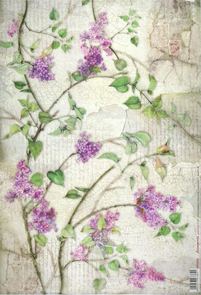 Rice-Paper-for-Decoupage-Decopatch-Scrapbook-Craft-Sheet-Vintage-Lilac-Flower-wallpaper-wp4609595