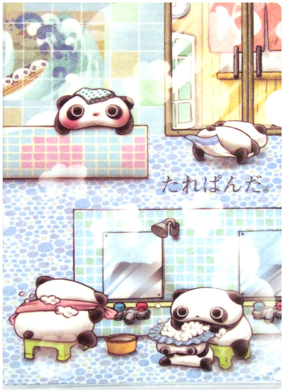 San-x-Tare-Panda-Spa-Plastic-File-Folder-wallpaper-wp44011092