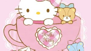 Hello Kitty kertas dinding