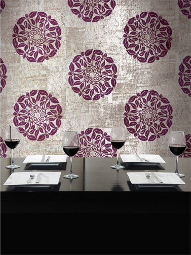 Sensational-metallic-silver-on-cork-with-hand-applied-purple-medallions-for-the-formal-din-wallpaper-wp4007297