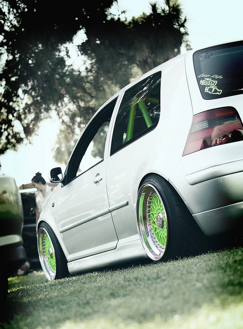 Sick-Mk-on-green-bbs-rs-s-with-a-matching-cage-wallpaper-wp30010507