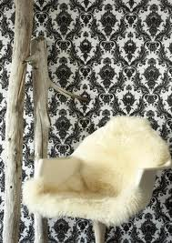 Textured-Flocked-Early-s-paper-Eames-era-chair-with-funky-faux-fur-wallpaper-wp4007860